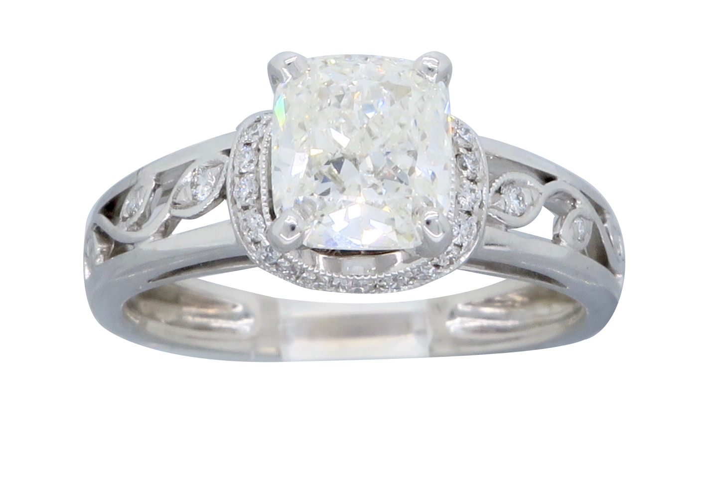 "Image of ""Simon G. 18K White Gold Diamond Ring Size 7.25"""