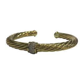 David Yurman 18K Yellow Gold with 0.21ct Diamond Bracelet