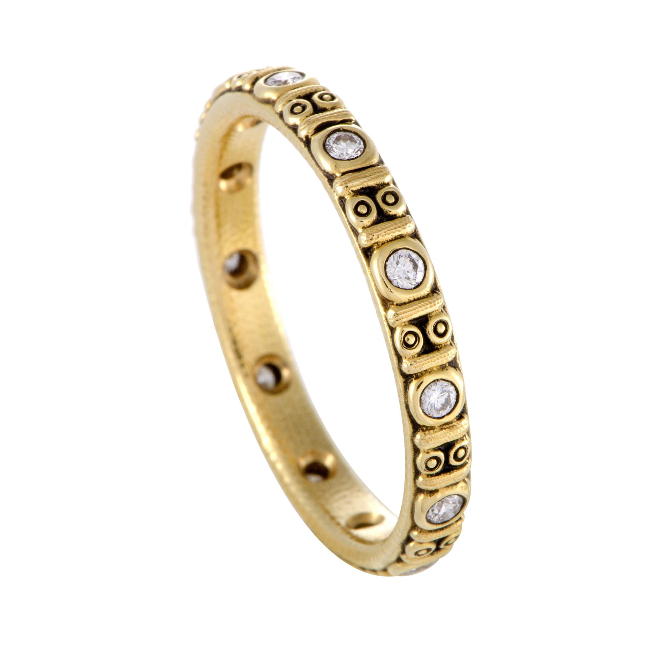 "Image of ""Alex Sepkus Circle Thin 18K Yellow Gold Diamond Band Ring Size 6"""