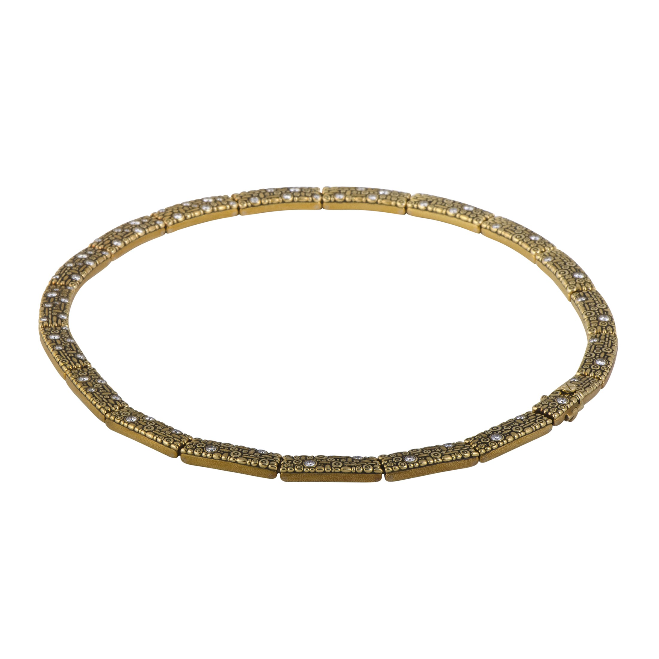 "Image of ""Alex Sepkus 18K Yellow Gold Diamond Studded Collar Necklace"""