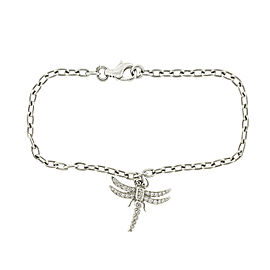 Tiffany & Co. Platinum and Diamond Dragonfly Charm Bracelet