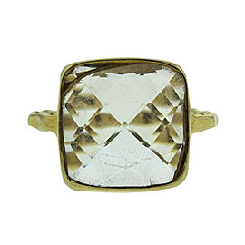 Gold Tone Sterling Silver Crystal Ring