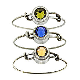 Alex and Ani Swarovski Crystal Ring Set of 3