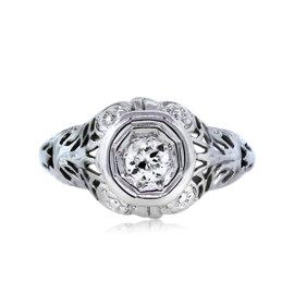 18K White Gold 0.15ct Diamond Engagement Ring Size 4.5