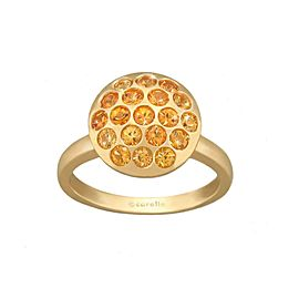 Yellow Sapphire Pave Sizzle Ring