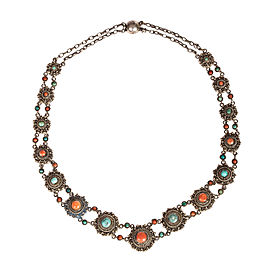 Persian Turquoise and Red Coral Necklace