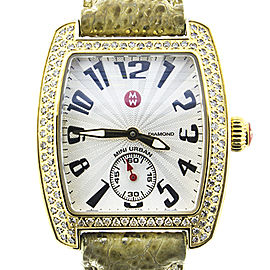 Michele Deco 16 Gold Diamond Dial MW06V00A9046 Womens Watch
