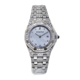 Audemars Piguet Royal Oak 18K White Gold All Diamond Watch