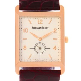 Audemars Piguet 18K Rose Gold & Leather Manual 25mm Mens Watch