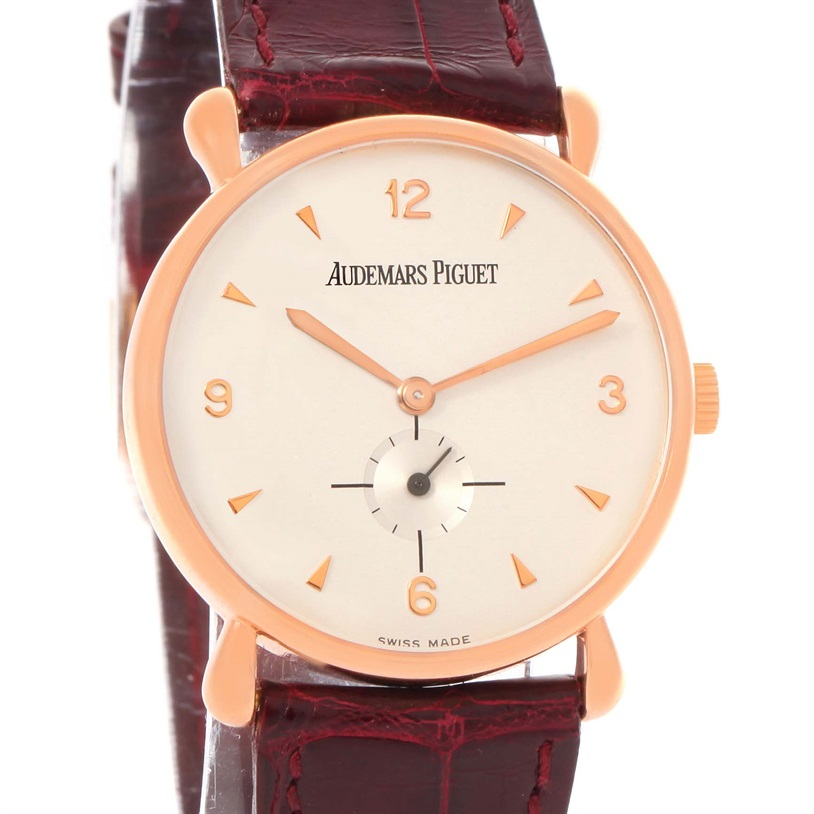 "Image of ""Audemars Piguet 18K Rose Gold Manual 32mm Unisex Watch"""