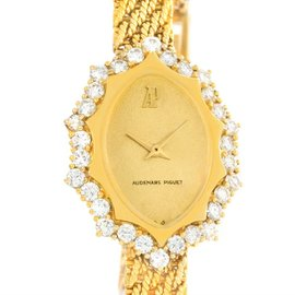 Audemars Piguet 18K Yellow Gold Manual Vintage 22.3mm Womens Watch