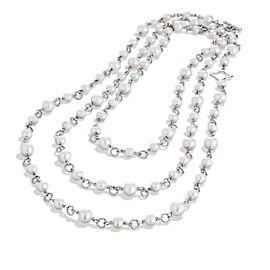 David Yurman Sterling Silver & Freshwater Pearl Necklace