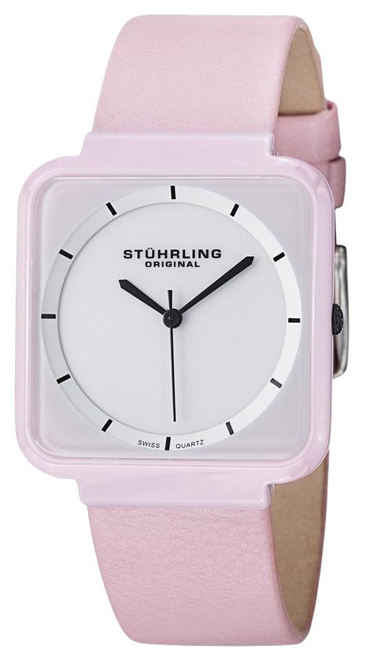 """Image of """"Stuhrling Carnivale 438.12Ooa2 Stainless Steel & Leather 36mm Watch"""""""