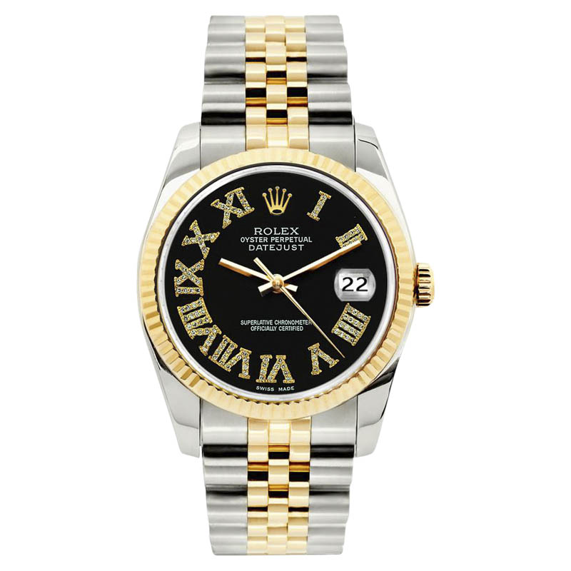 "Image of ""Datejust Stainless Steel Diamond, Sapphire Mens Watch"""