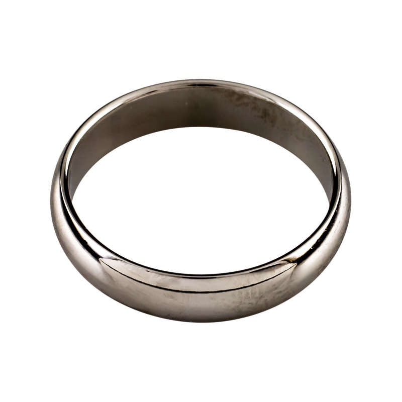 "Image of ""Benchmark 14K White Gold Plain Wedding Band Ring Size 9"""