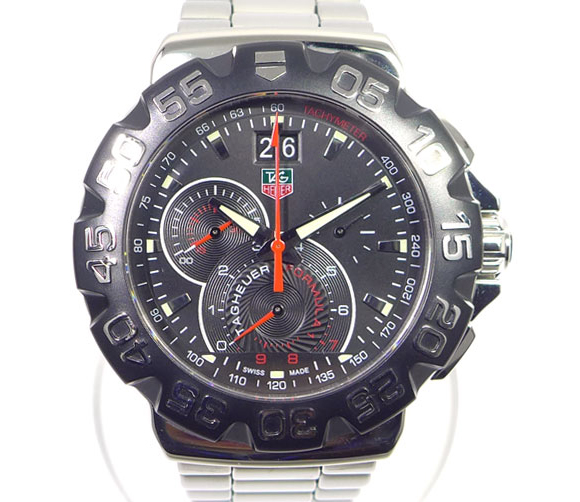 """Image of """"Tag Heuer Formula 1 Cah1015 Stainless Steel Black Dial Quartz 44mm"""""""