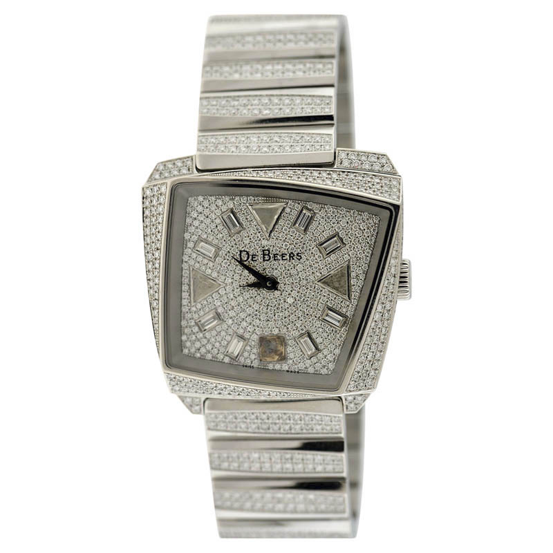 "Image of ""De Beers Talisman 18K White Gold Diamond Womens Watch"""
