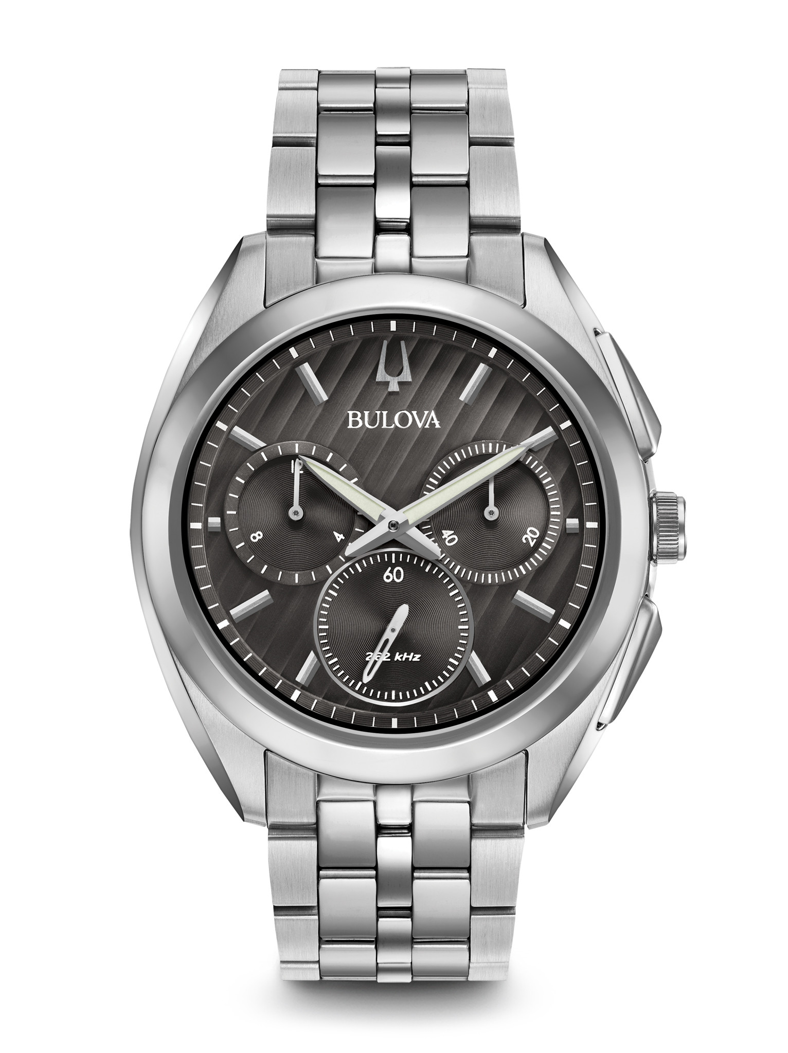"""Image of """"Bulova Curv Stainless Steel 45mm Watch"""""""