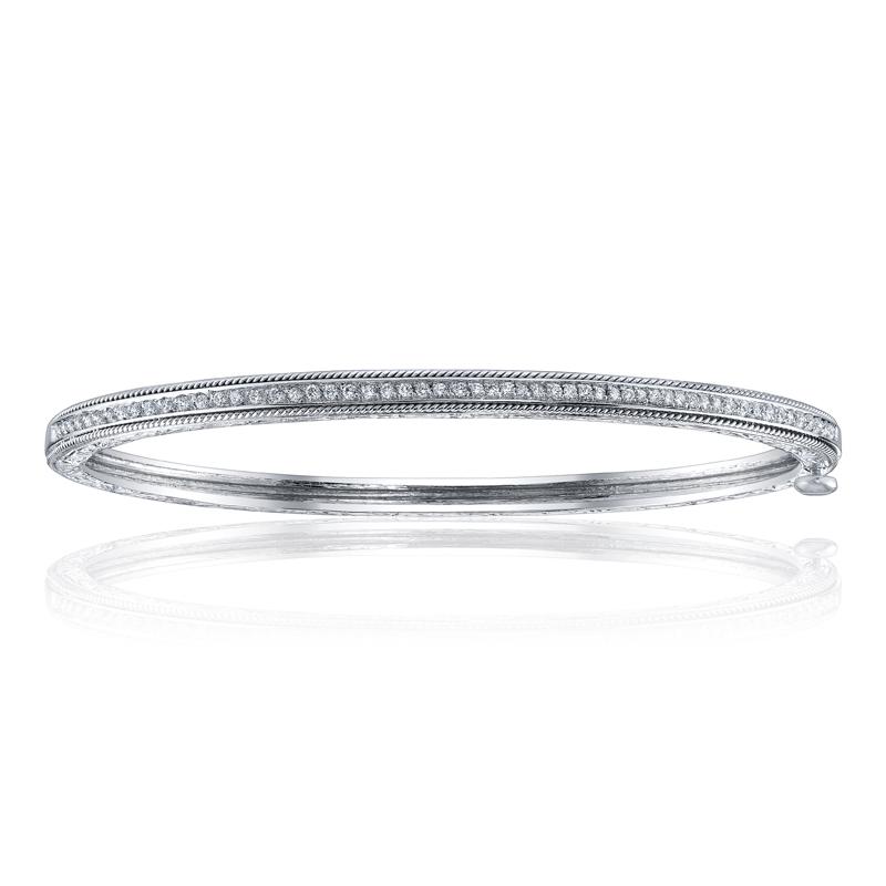 "Image of ""Penny Preville 18K White Gold & 0.42ct. Diamond Bangle Bracelet"""