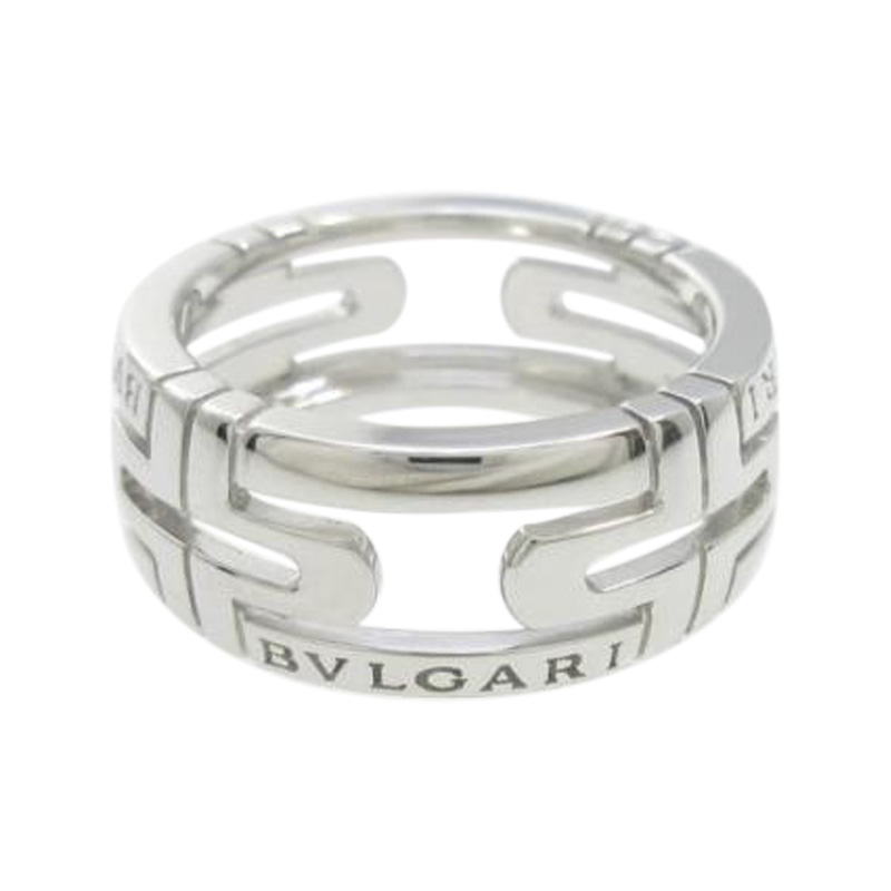 "Image of ""Bulgari 18K White Gold Parentesi Small Ring Size 5"""