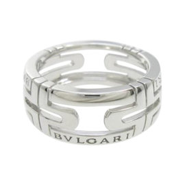 Bulgari 18K White Gold Parentesi Small Ring Size 5