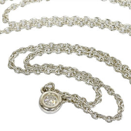 Tiffany & Co. Elsa Peretti 925 Sterling Silver By The Yard Diamond Necklace