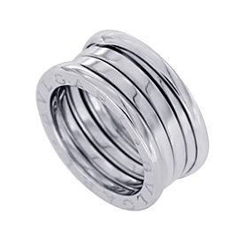 Bulgari B-Zero1 18K White Gold 3 Bands Ring Size 6.25
