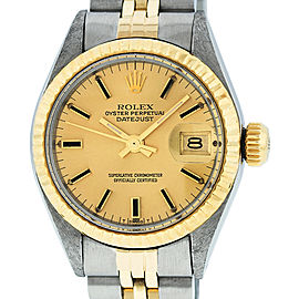 Rolex Datejust Watch Stainless Steel and 18K Yellow Gold Champagne Dial 26mm Women's Watch