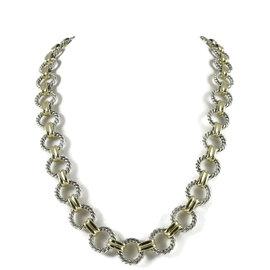 David Yurman 925 Sterling Silver 18K Yellow Gold Toggle Necklace