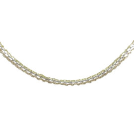 Cartier 18K Yellow White & Rose Gold Triple Chain Necklace
