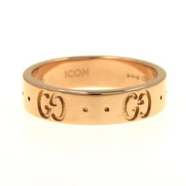 Gucci 18K Rose Gold Ring Size 3.75