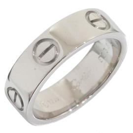 Cartier 18K White Gold Love Ring Size 6.25