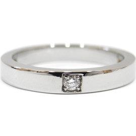 Bulgari 950 Platinum Diamond Marry Me Ring Size 5
