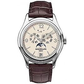 Patek Philippe Annual Calendar 5146G-001 18K White Gold & Leather 39mm Watch