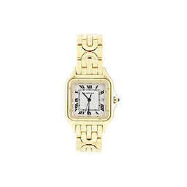 Cartier Men's Panthere Solid 18k Yellow Gold 29mm Watch