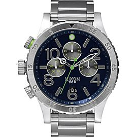 Nixon Chrono 48-20 A486 1981-00 Stainless Steel 48mm Watch