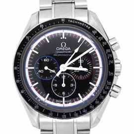 Omega Speedmaster Stainless Steel with Black Dial 42mm Mens Watch