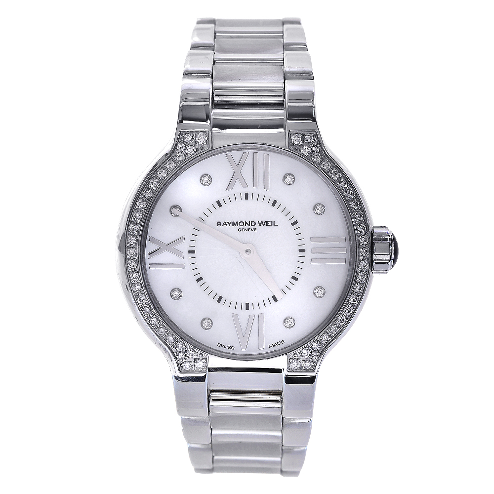 """Image of """"Raymond Weil 5932-Sts-00995 Noemia Diamond Stainless Steel 32mm Womens"""""""
