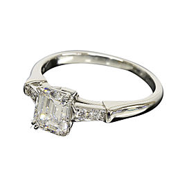 Harry Winston 950 Platinum & 0.80ct Diamond Ring Size 4.5