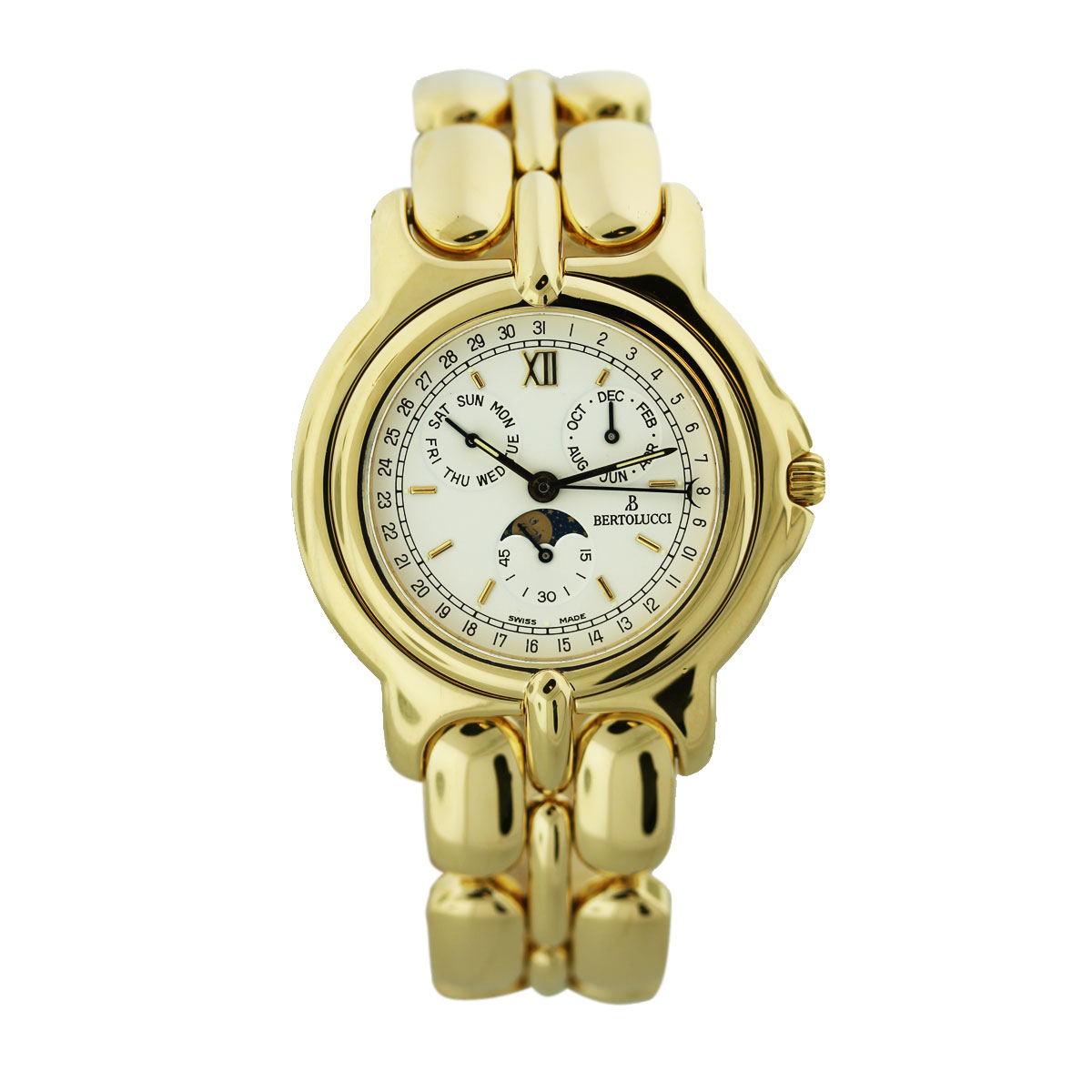 "Image of ""Bertolucci Pulchra 18K Yellow Gold 38mm Mens Watch"""