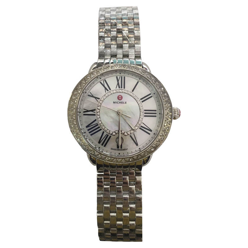"""Image of """"Michele Serein Mw21B01A1963 Stainless Steel 16 Diamond Mother of Pearl"""""""