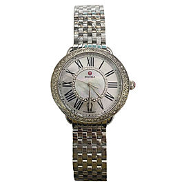 Michele Serein MW21B01A1963 Stainless Steel 16 Diamond Mother of Pearl Dial 34mm Womens Watch