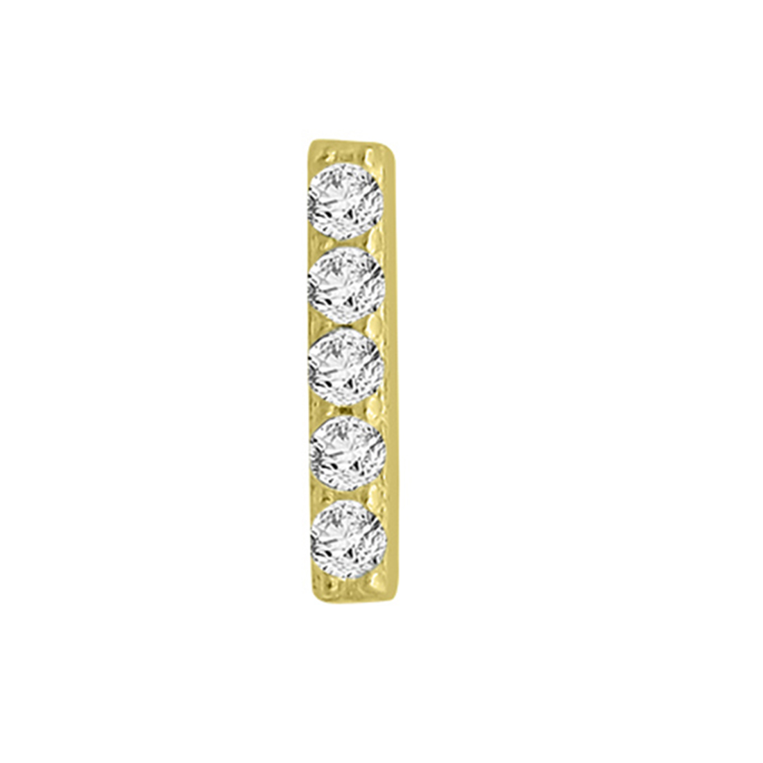 "Image of ""14k Yellow Gold Diamond Bar Single Earring"""