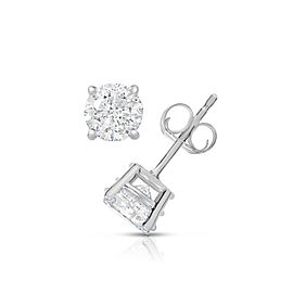14K White Gold 1.00ct. Diamond Earring Studs