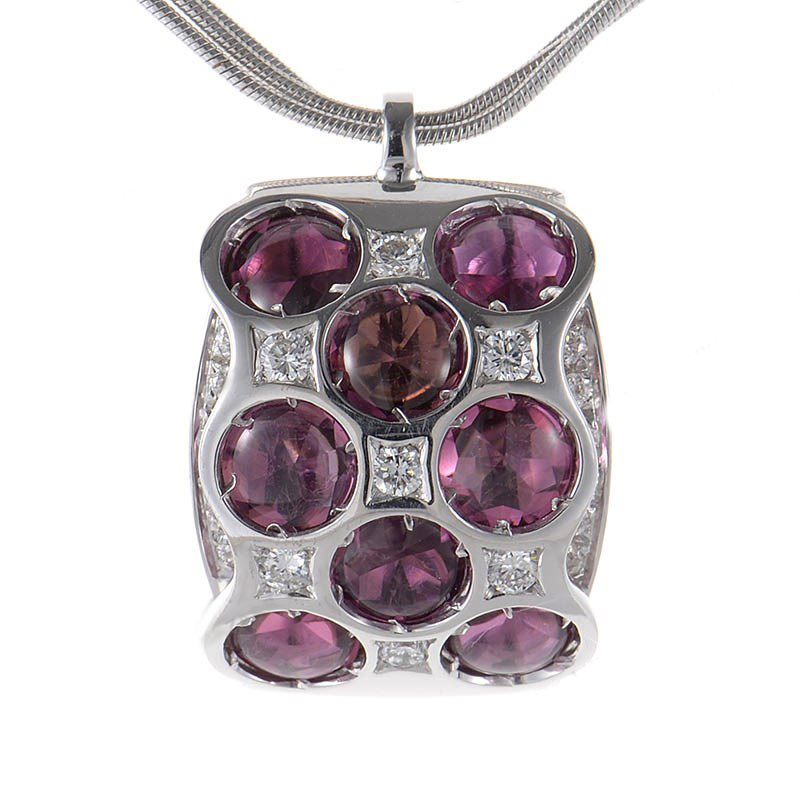 "Image of ""Bibigi 18K White Gold Purple Tourmaline Pendant Necklace"""