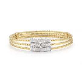 Yellow Gold Multi-strand Wire Bracelet