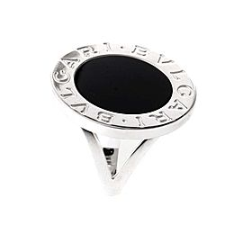 Bvlgari Bulgari 18K White Gold Onyx Ring AN851540