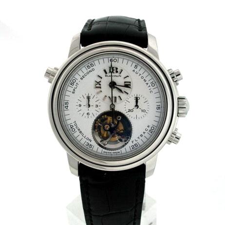 "Image of ""Blancpain Leman 2189F-3427-63B Platinum & Leather 38mm Watch"""
