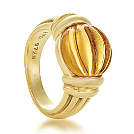 Boucheron 18K Yellow Gold & Citrine Ring Size 6.25