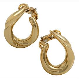Boucheron 18K Yellow Gold Clip-on Hoop Earrings